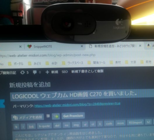 LOGICOOL ウェブカム HD画質 120万画素 C270 03